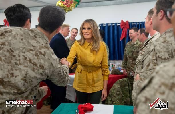 تصاویر: حاشیههایی از سفر ترامپ و همسرش به عراق - 12