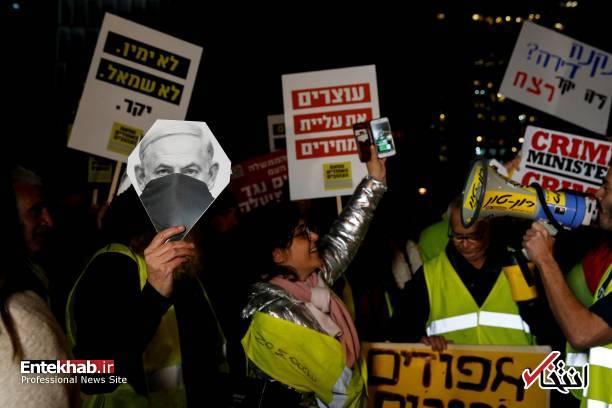 عکس/ تظاهرات جلیقه زردها علیه نتانیاهو در تل آویو - 8