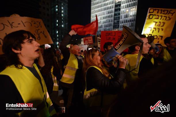 عکس/ تظاهرات جلیقه زردها علیه نتانیاهو در تل آویو - 4