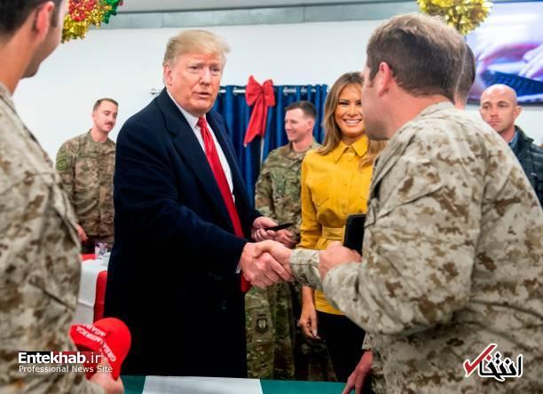تصاویر: حاشیههایی از سفر ترامپ و همسرش به عراق - 3