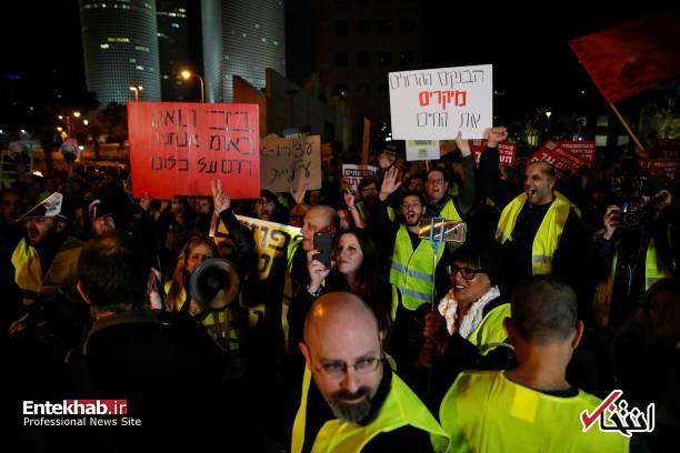 عکس/ تظاهرات جلیقه زردها علیه نتانیاهو در تل آویو - 7