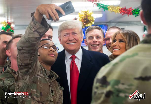 تصاویر: حاشیههایی از سفر ترامپ و همسرش به عراق - 2