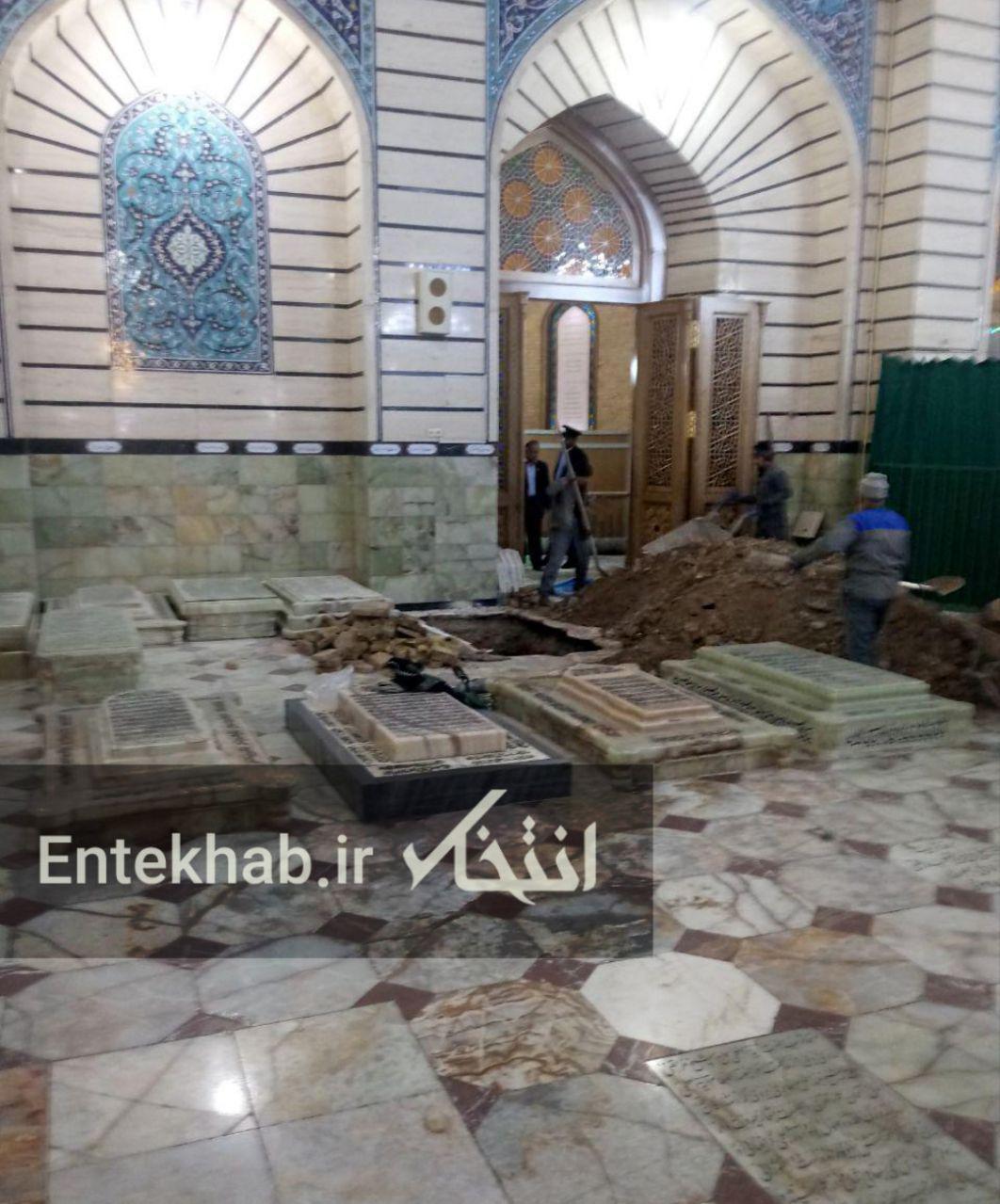 تصویری از محل دفن آیتالله هاشمی شاهرودی در حرم حضرت معصومه (س) - 1