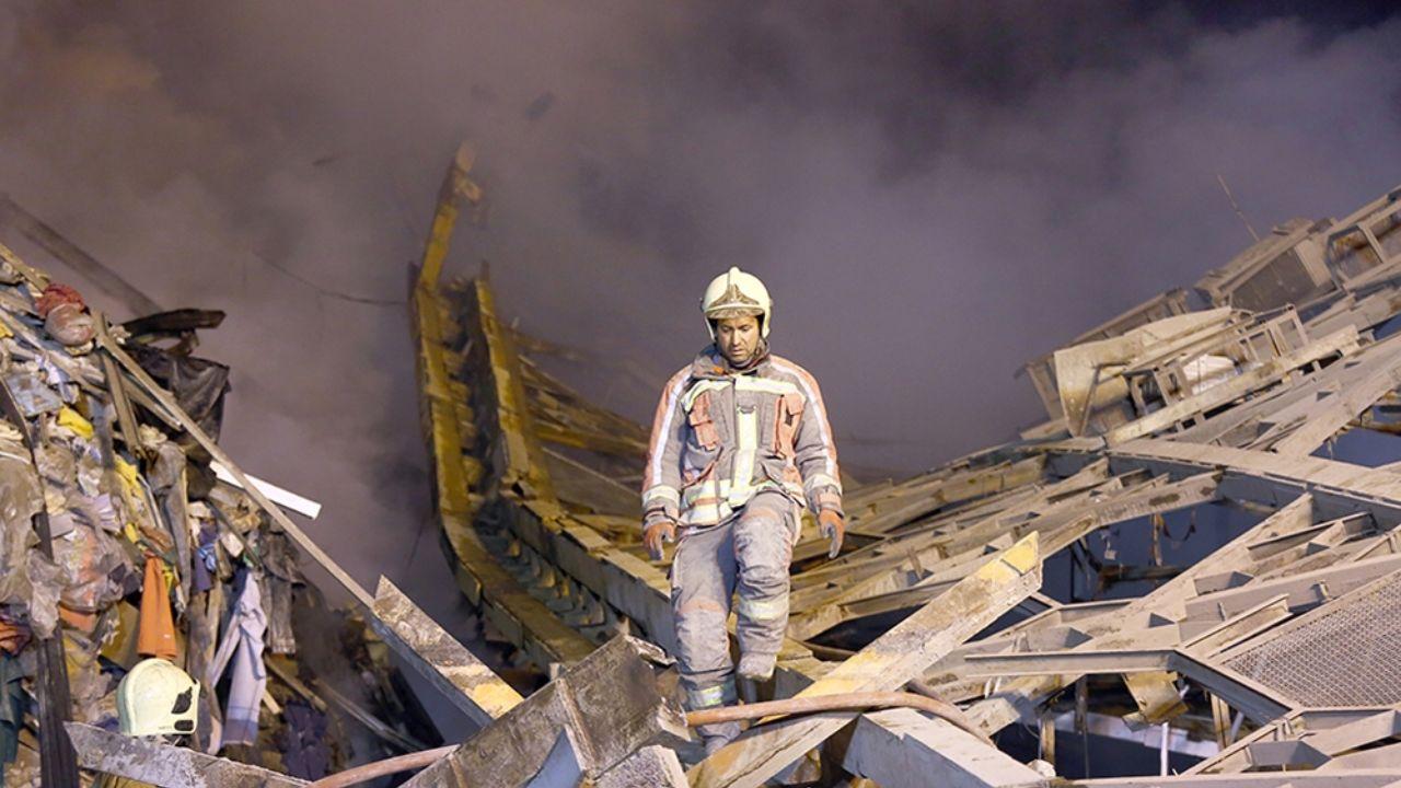 ۳۰ دی ۱۳۹۵؛ آتشسوزی و ریزش ساختمان پلاسکو + تصاویر - 16
