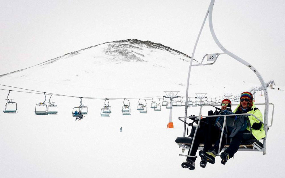 (تصاویر) لذت اسکی در برفهای پاییزی توچال - 21