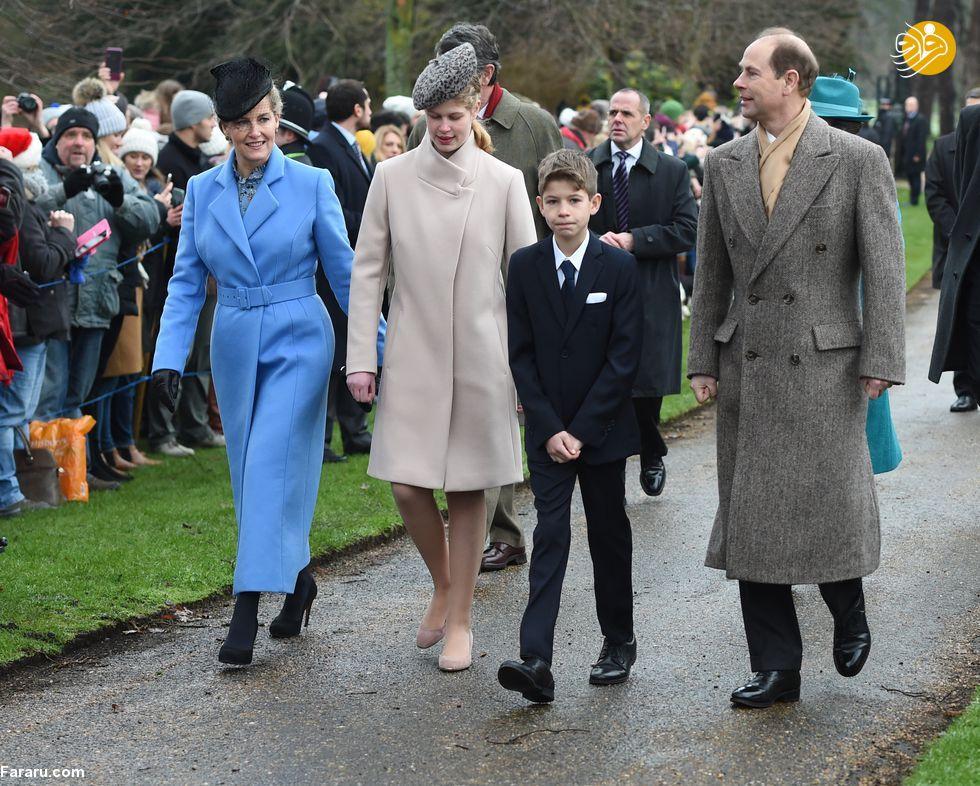 (تصاویر) پوشش خاندان سلطنتی بریتانیا در کریسمس - 14