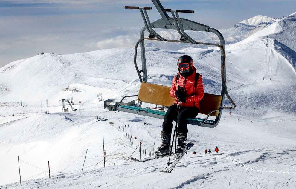 (تصاویر) لذت اسکی در برفهای پاییزی توچال - 18