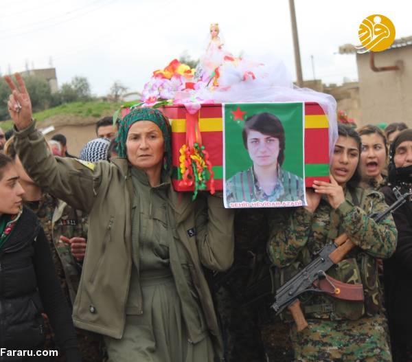 (تصاویر) تشییع دختر کشته شده در جنگ با داعش - 14