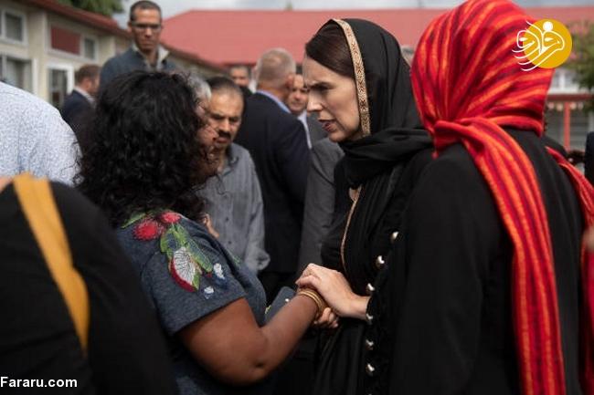 (تصاویر) نخست وزیر نیوزیلند باحجاب شد! - 16