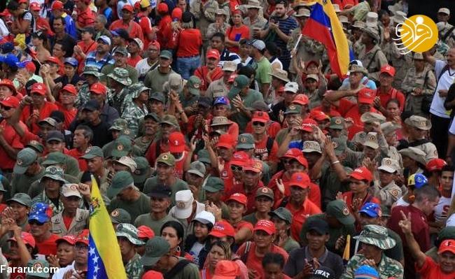 (تصاویر) وزنکشی خیابانی هواداران گوایدو و مادرو در ونزوئلا - 28