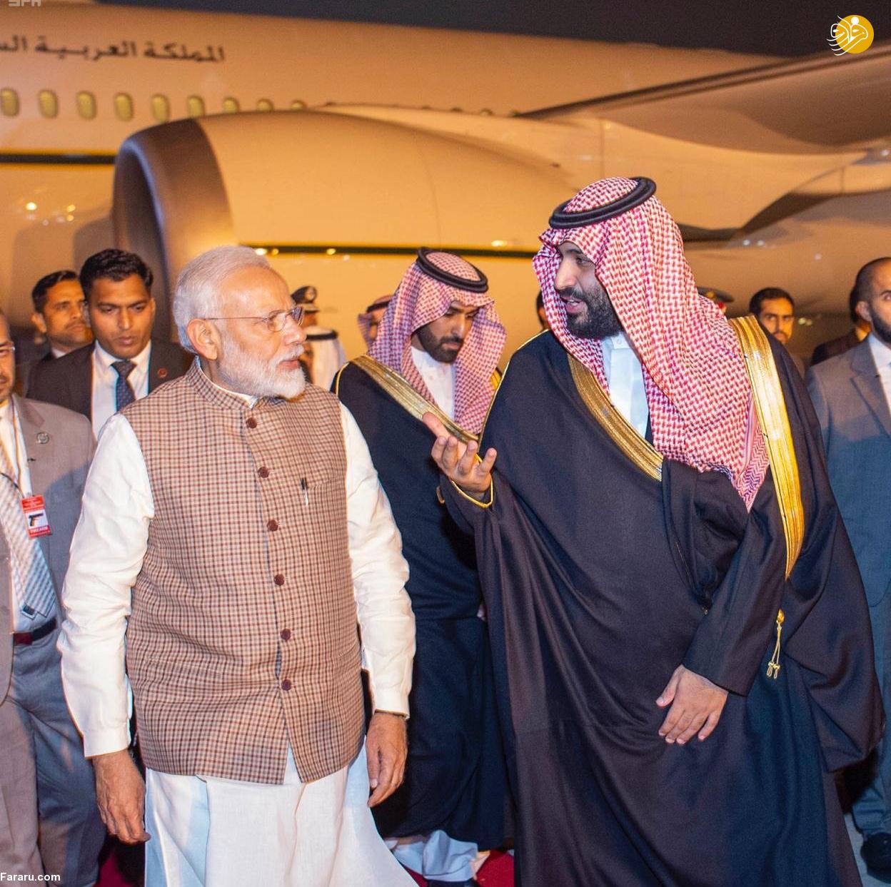 (تصاویر) استقبال خلاف عرف نخستوزیر هند از بنسلمان - 14