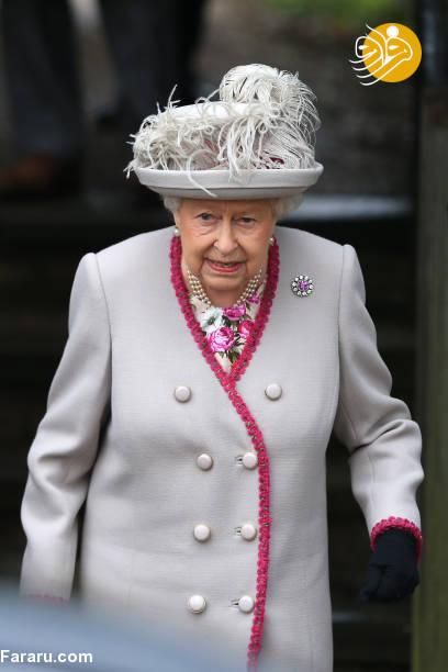 (تصاویر) پوشش خاندان سلطنتی بریتانیا در کریسمس - 8