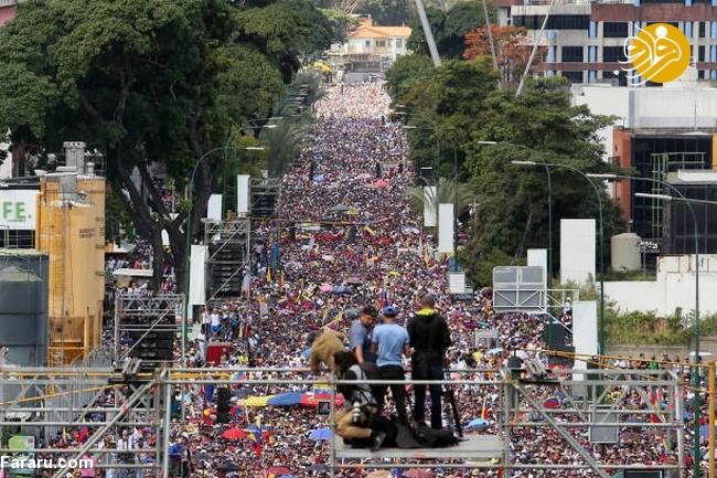 (تصاویر) وزنکشی خیابانی هواداران گوایدو و مادرو در ونزوئلا - 20