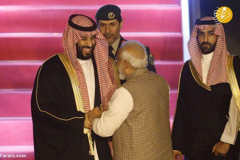 (تصاویر) استقبال خلاف عرف نخستوزیر هند از بنسلمان - 10