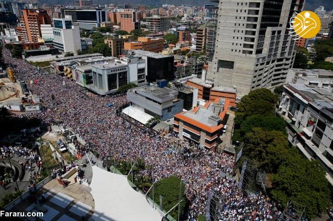 (تصاویر) وزنکشی خیابانی هواداران گوایدو و مادرو در ونزوئلا - 18