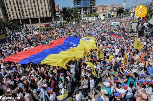 (تصاویر) وزنکشی خیابانی هواداران گوایدو و مادرو در ونزوئلا - 21
