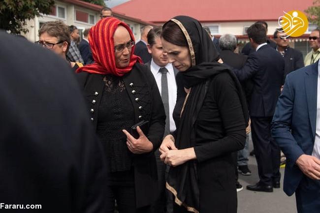 (تصاویر) نخست وزیر نیوزیلند باحجاب شد! - 13
