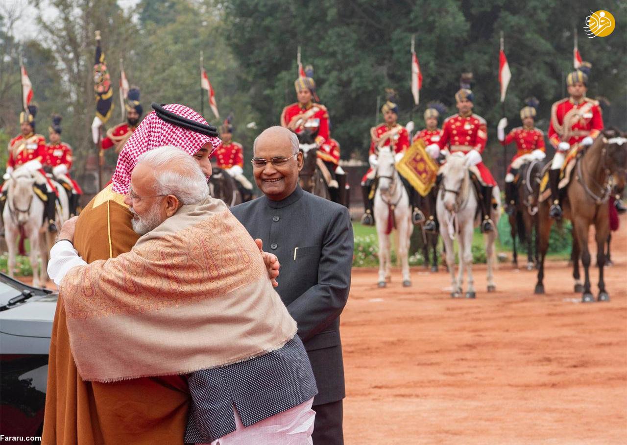(تصاویر) استقبال خلاف عرف نخستوزیر هند از بنسلمان - 18