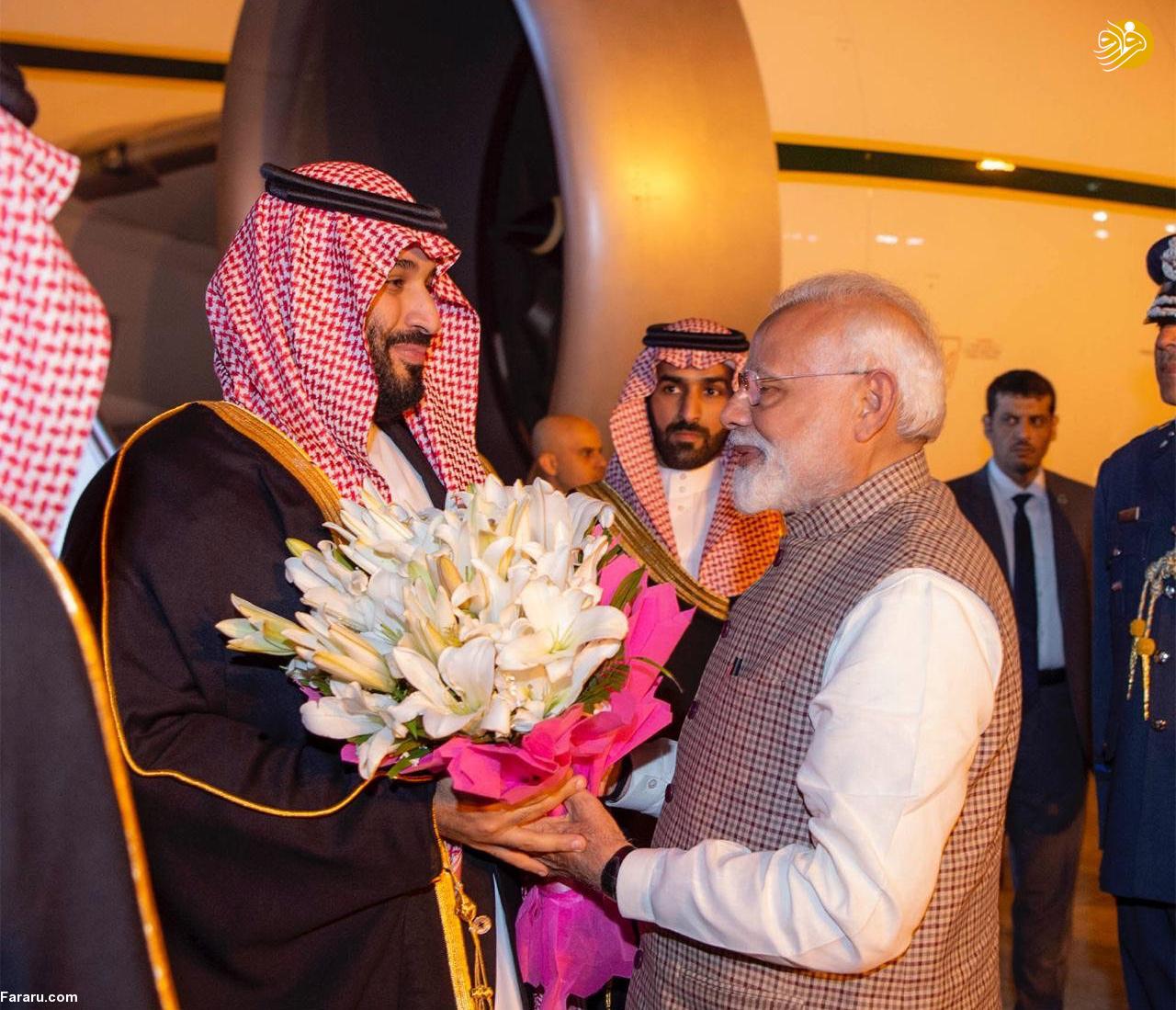 (تصاویر) استقبال خلاف عرف نخستوزیر هند از بنسلمان - 12