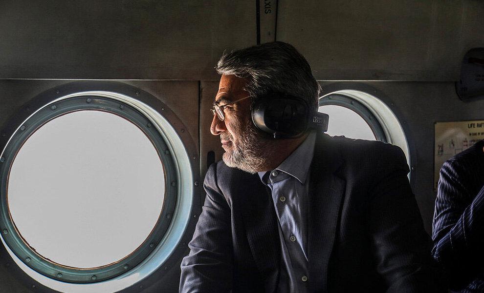 (تصاویر) بازدید هوایی وزیر کشور از مناطق سیلزده خوزستان - 8