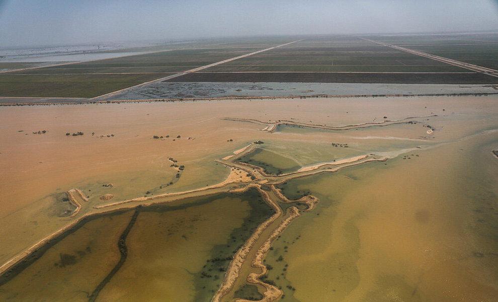 (تصاویر) بازدید هوایی وزیر کشور از مناطق سیلزده خوزستان - 4