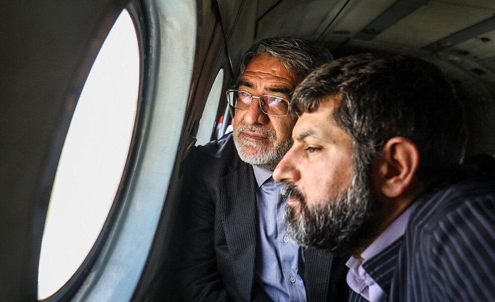 (تصاویر) بازدید هوایی وزیر کشور از مناطق سیلزده خوزستان - 16