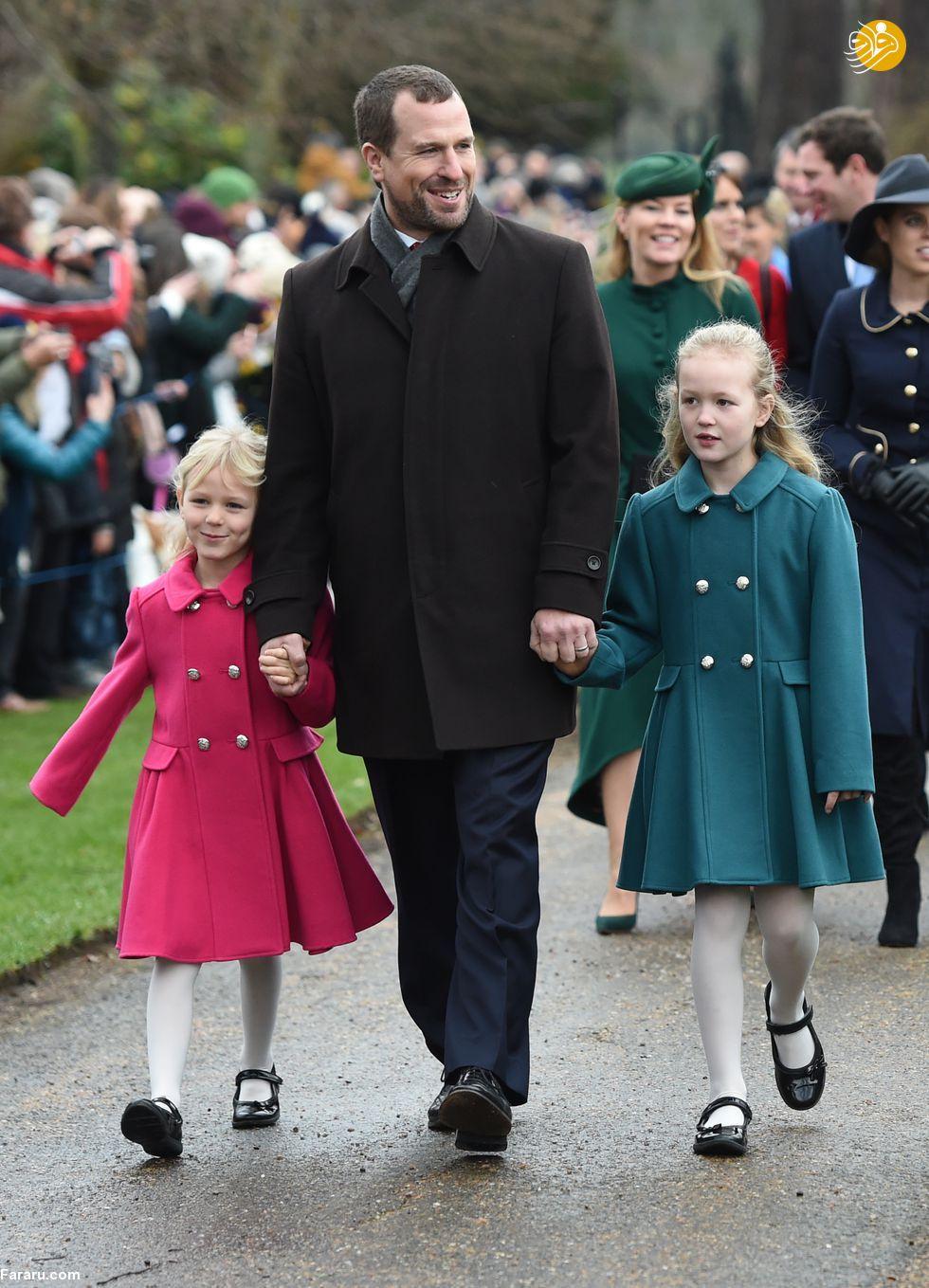 (تصاویر) پوشش خاندان سلطنتی بریتانیا در کریسمس - 13