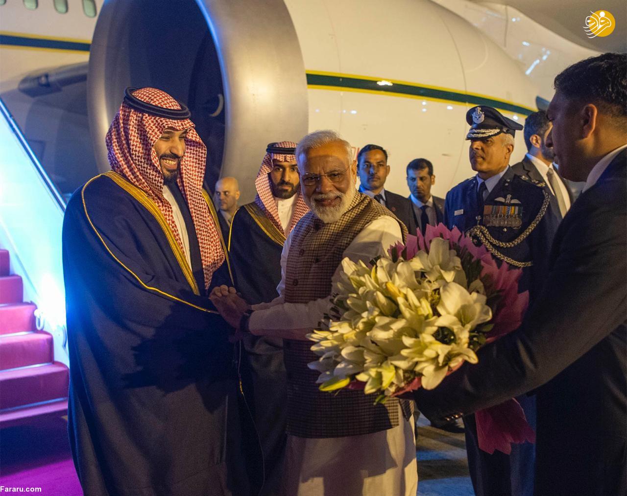 (تصاویر) استقبال خلاف عرف نخستوزیر هند از بنسلمان - 11