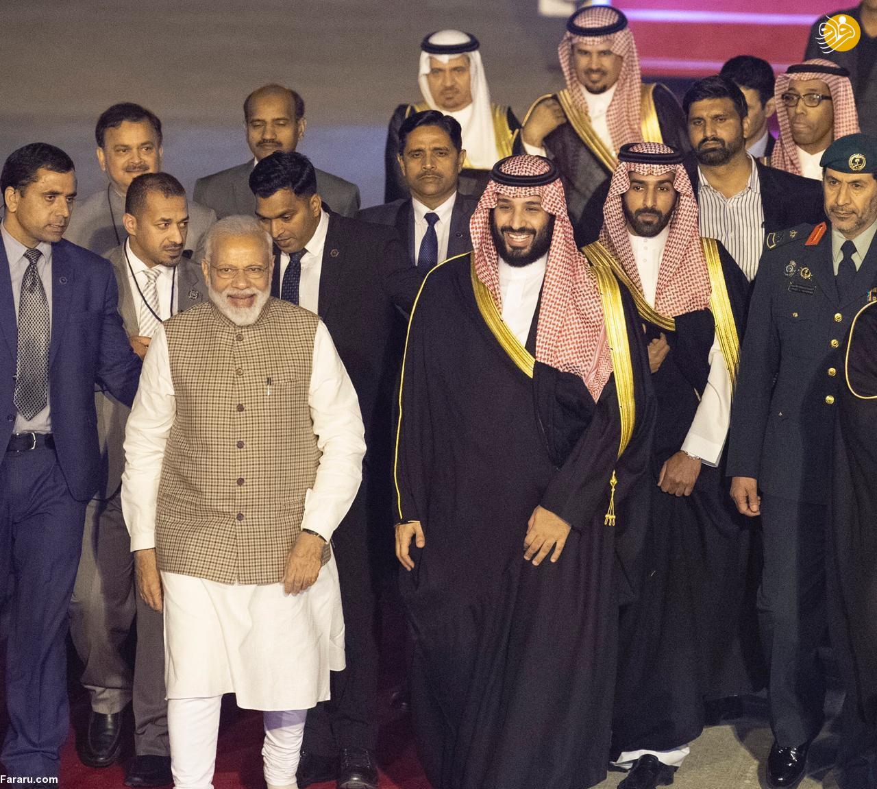 (تصاویر) استقبال خلاف عرف نخستوزیر هند از بنسلمان - 15