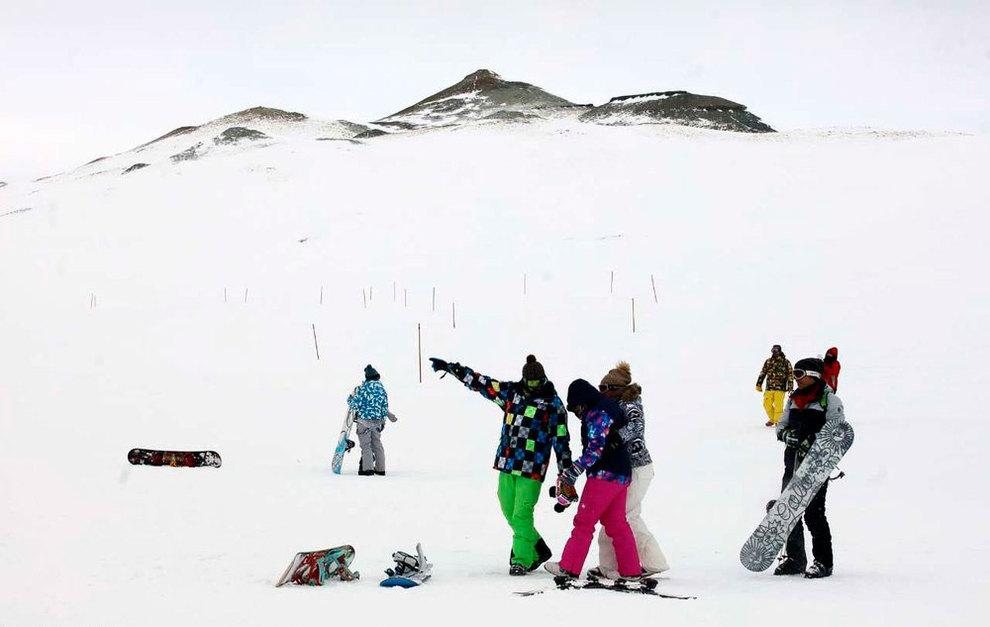 (تصاویر) لذت اسکی در برفهای پاییزی توچال - 20
