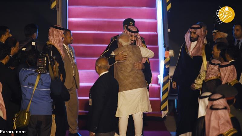 (تصاویر) استقبال خلاف عرف نخستوزیر هند از بنسلمان - 9