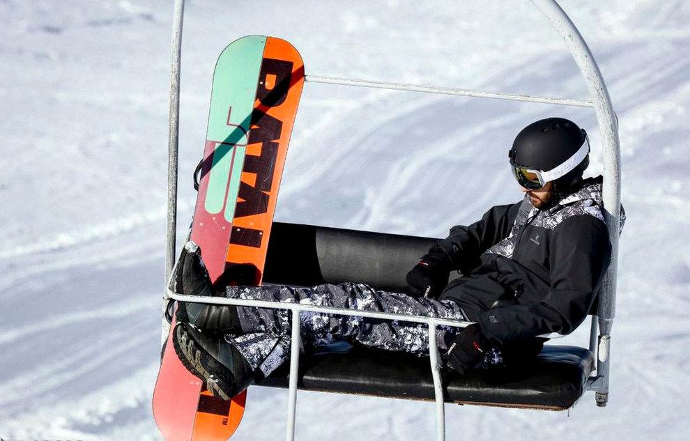 (تصاویر) لذت اسکی در برفهای پاییزی توچال - 9