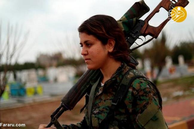 (تصاویر) تشییع دختر کشته شده در جنگ با داعش - 16