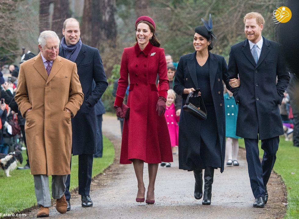 (تصاویر) پوشش خاندان سلطنتی بریتانیا در کریسمس - 16