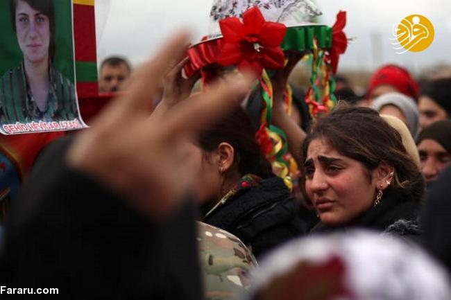 (تصاویر) تشییع دختر کشته شده در جنگ با داعش - 20