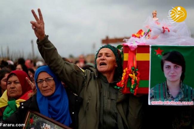 (تصاویر) تشییع دختر کشته شده در جنگ با داعش - 8