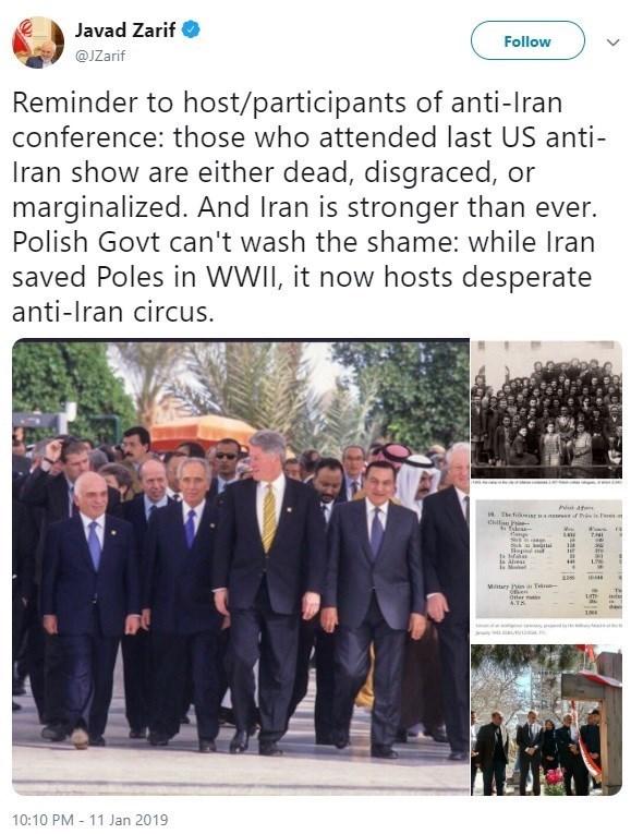 واکنش ظریف به کنفرانس ضد ایرانی: دولت لهستان شرم کند - 6