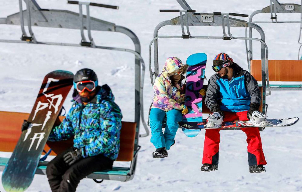 (تصاویر) لذت اسکی در برفهای پاییزی توچال - 14