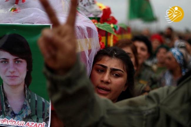 (تصاویر) تشییع دختر کشته شده در جنگ با داعش - 10