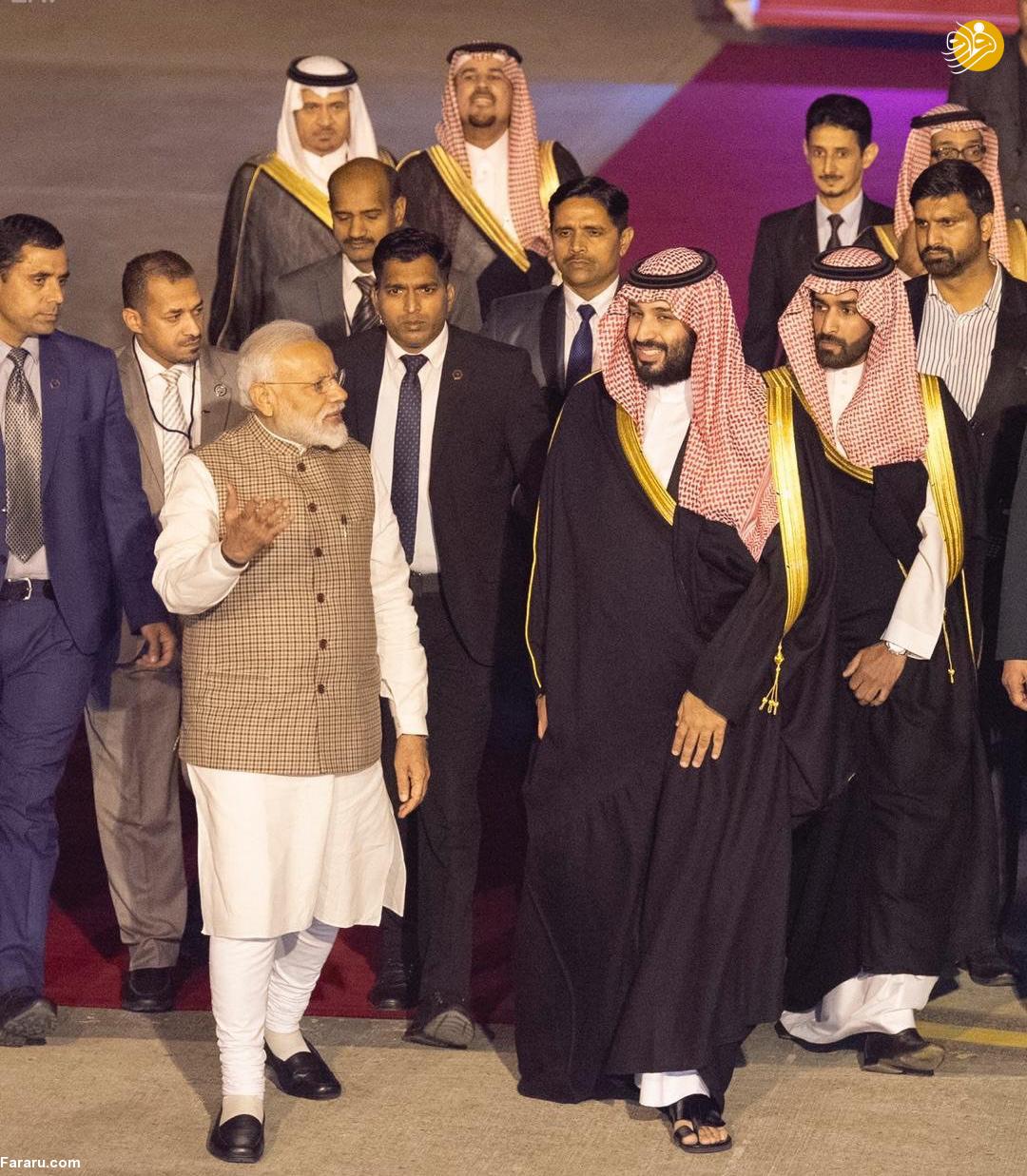 (تصاویر) استقبال خلاف عرف نخستوزیر هند از بنسلمان - 16