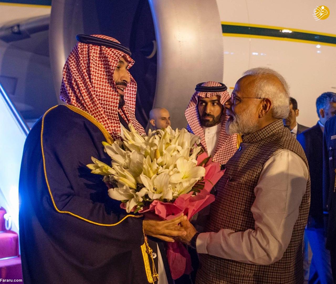(تصاویر) استقبال خلاف عرف نخستوزیر هند از بنسلمان - 13