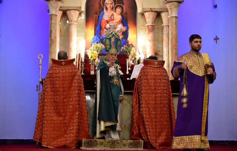(تصاویر) آغاز سال نو در کلیسای سرکیس مقدس تهران - 1