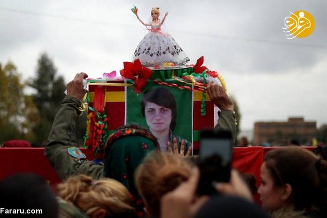 (تصاویر) تشییع دختر کشته شده در جنگ با داعش - 7