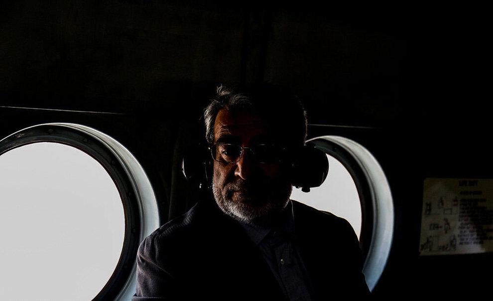 (تصاویر) بازدید هوایی وزیر کشور از مناطق سیلزده خوزستان - 1