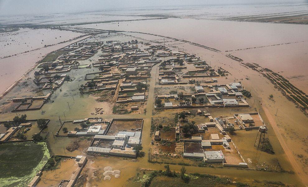 (تصاویر) بازدید هوایی وزیر کشور از مناطق سیلزده خوزستان - 11