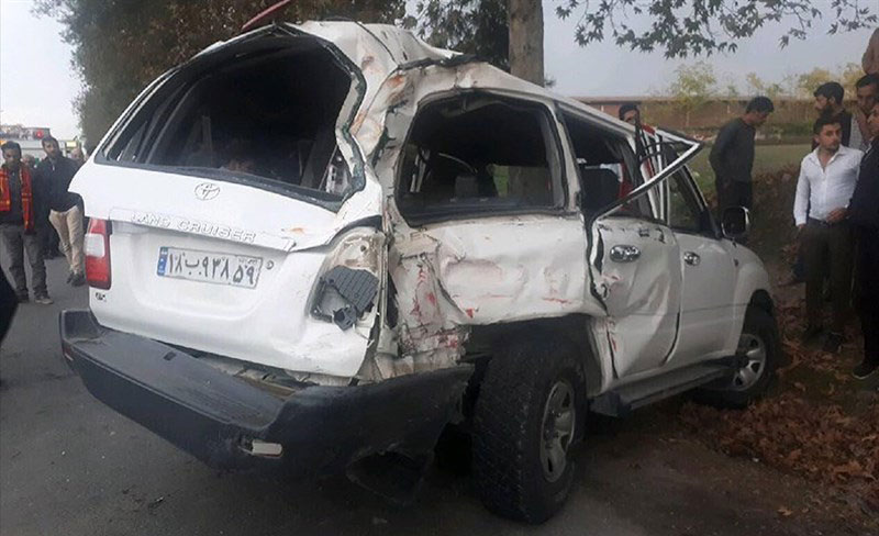 (تصاویر) تصادف شدید خودروی رئیس سازمان تامین اجتماعی - 1