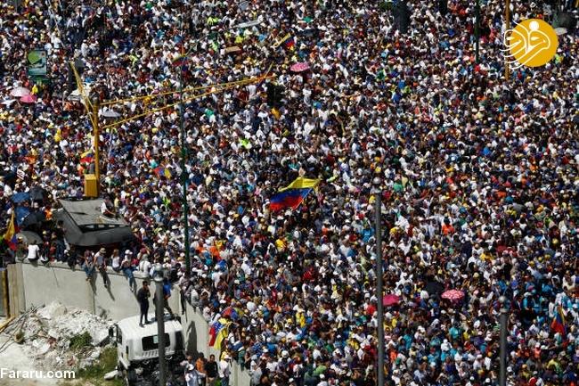 (تصاویر) وزنکشی خیابانی هواداران گوایدو و مادرو در ونزوئلا - 17