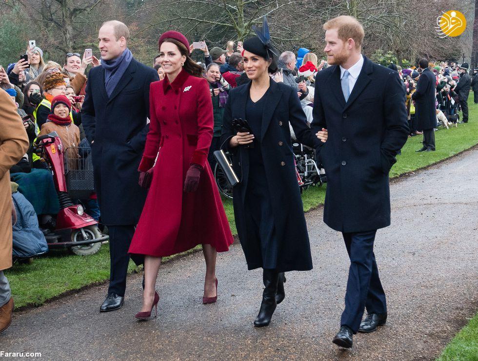 (تصاویر) پوشش خاندان سلطنتی بریتانیا در کریسمس - 19