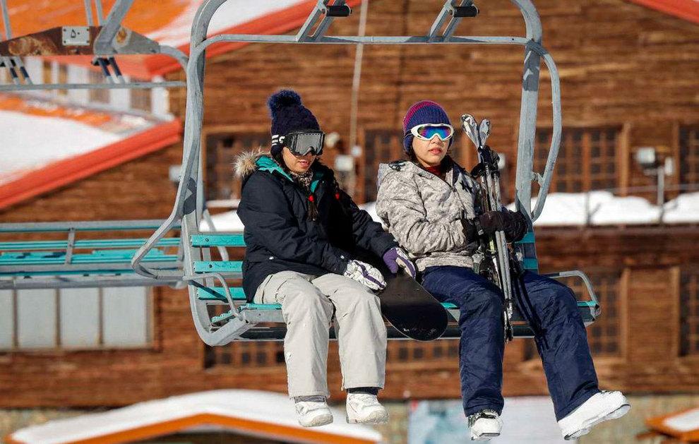 (تصاویر) لذت اسکی در برفهای پاییزی توچال - 7