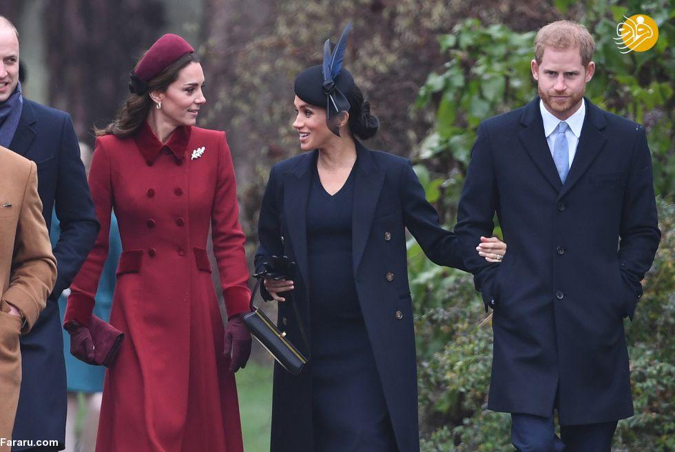(تصاویر) پوشش خاندان سلطنتی بریتانیا در کریسمس - 18